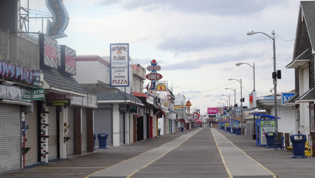 Wildwood Boardwalk in December